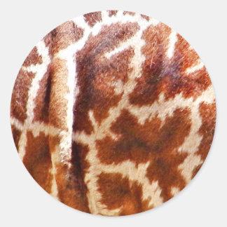 Giraffe Skin_ Round Sticker