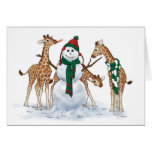 Giraffe Snow Day Note Card