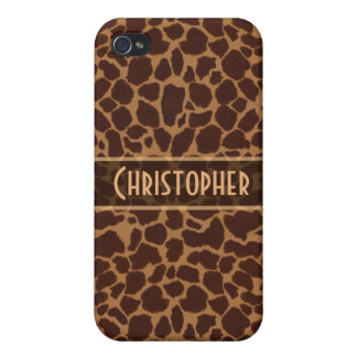 Giraffe Spot Pattern Personalize iPhone 4 Cases