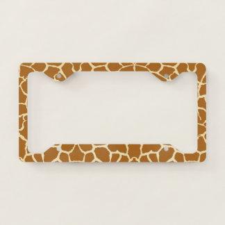 Giraffe Spots Licence Plate Frame
