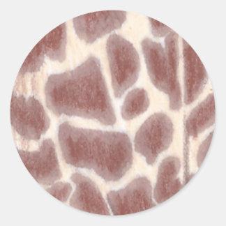 Giraffe Spots Pattern Custom Stickers