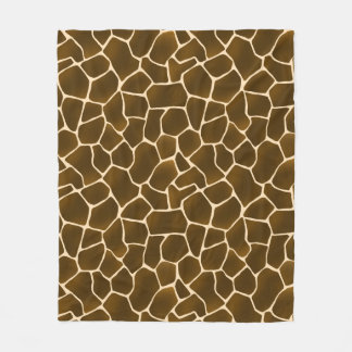Giraffe Spots Wild Safari Style Animal Skin Fleece Blanket