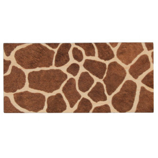 Giraffe spots wood USB flash drive