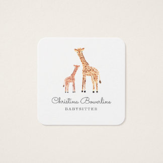Giraffe Square Business Card