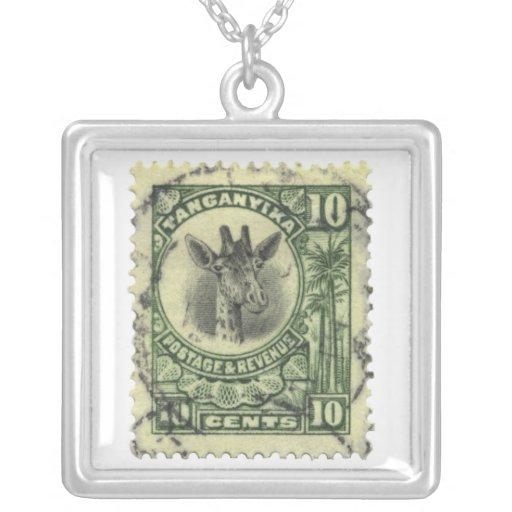 Giraffe Stamp Necklace