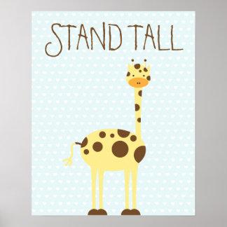 Giraffe Stand Tall ı Kids room Poster