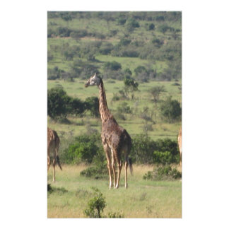giraffe customised stationery