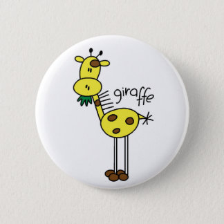 Giraffe Stick Figure Button