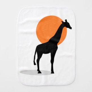 Giraffe Sunset Burp Cloth