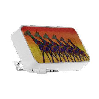 Giraffe Sunset Doodle Custom Speaker