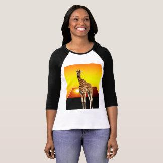 Giraffe Sunshine Popout  Art, T-Shirt