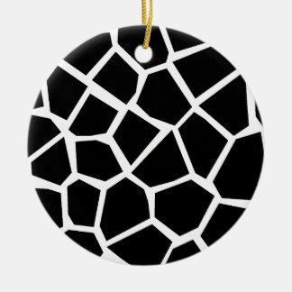 Giraffe Texture Christmas Ornament