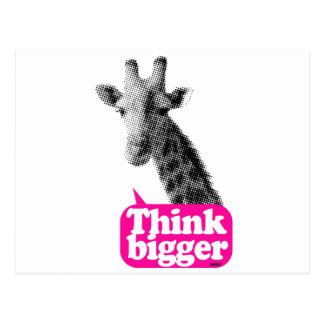 Giraffe - Thin bigger Postcard