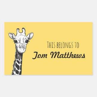 Giraffe this belongs to stickers