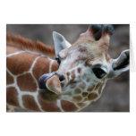 Giraffe Tongue Greeting Card