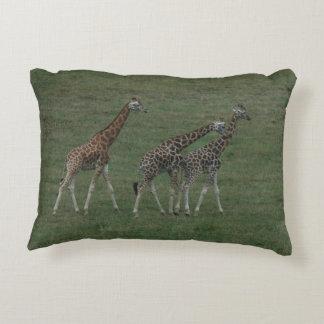 Giraffe Triplets Personalize Destiny Destiny'S Decorative Cushion