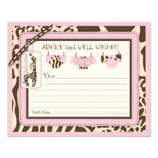 Giraffe Tutu Diapers Animal Print Advice Card 11.5 Cm X 14 Cm Flyer