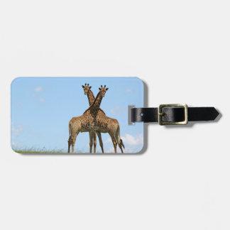 Giraffe Twins Luggage Tag