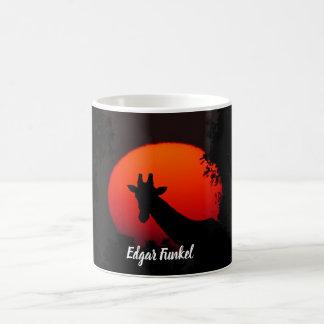 Giraffe versus Red Sun Coffee Mug