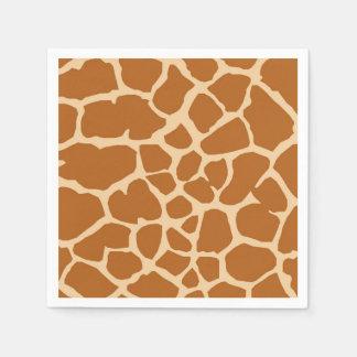 Giraffe wild jungle animal fashion glamour paper serviettes