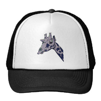 Giraffe With Argyle Patterned Sink And Blue Spots Cap