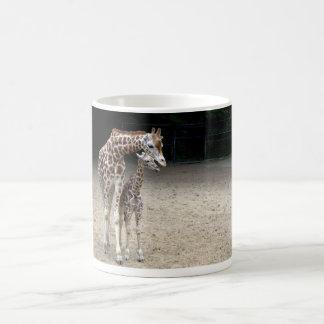 Giraffe with child coffee mug