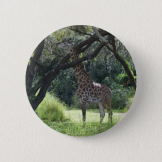 Giraffe with Long Neck 6 Cm Round Badge