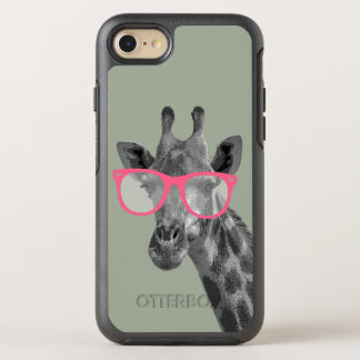 Giraffe with Pink Glasses Cute Funny Phone OtterBox Symmetry iPhone 8/7 Case