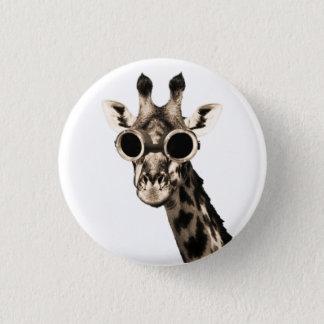 Giraffe With Steampunk Sunglasses Goggles 3 Cm Round Badge