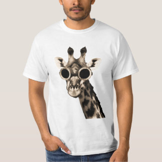 Giraffe With Steampunk Sunglasses Goggles T-Shirt
