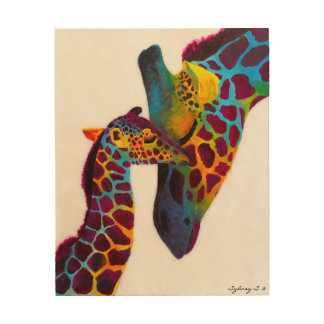 Giraffe Wood Wall Art