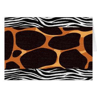 Giraffe & Zebra Card