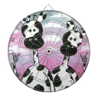 Giraffees Two Zazzle Dartboard