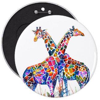 Giraffes 6 Cm Round Badge