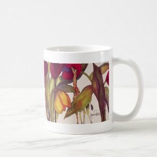 Giraffes and Tulips Coffee Mug