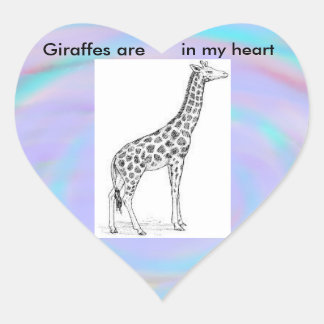 Giraffes are in my heart sticker