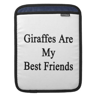 Giraffes Are My Best Friends iPad Sleeves