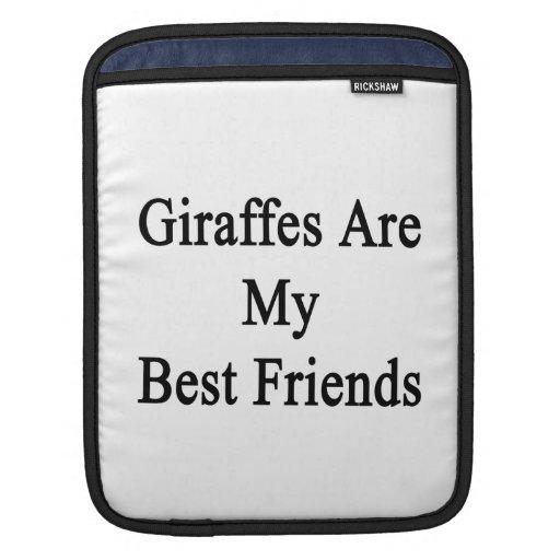 Giraffes Are My Best Friends iPad Sleeves