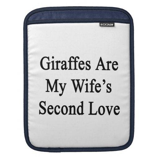 Giraffes Are My Wife's Second Love iPad Sleeves