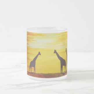 Giraffes at Sunset (Kimberly Turnbull Art) Frosted Glass Coffee Mug