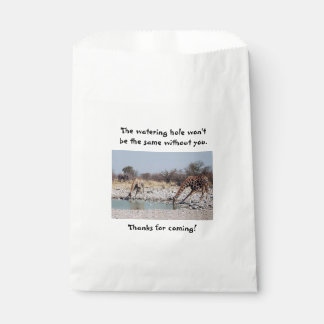 Giraffes at the Watering Hole Favour Bags