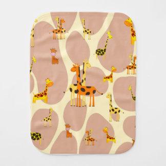 Giraffes Burp Cloth