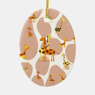 Giraffes Ceramic Oval Decoration