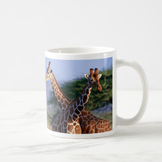 Giraffes crossed, mother + Child Coffee Mug