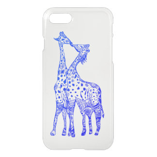 Giraffes Custom iPhone 8/7 Clearly™ Deflector Case