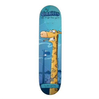 Giraffes custom skateboard. My giraffes are big... 21.6 Cm Skateboard Deck