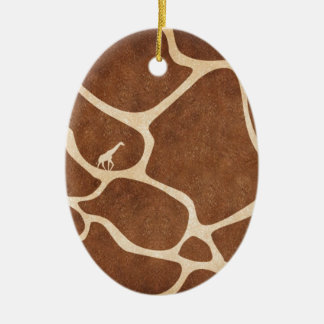 Giraffes! exotic animal print design! ceramic oval decoration