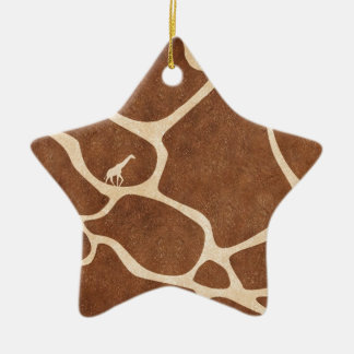 Giraffes! exotic animal print design! ceramic star decoration