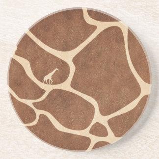 Giraffes! exotic animal print design! drink coaster