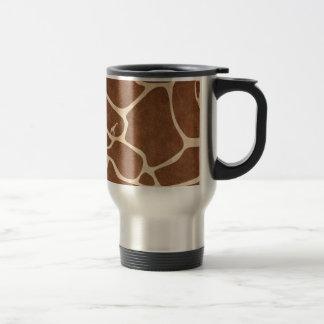 Giraffes! exotic animal print design! stainless steel travel mug